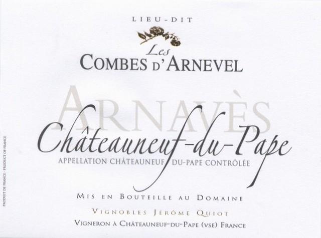 Châteauneuf du Pape Les Combes d'Arnevels Red